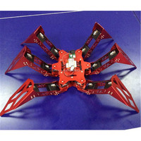 Hexapod spider robot kit with servo control board at low cost