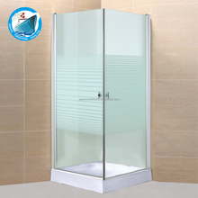 china factory wholesale simple 800x800mm pattern frameless corner low price arab glass shower room
