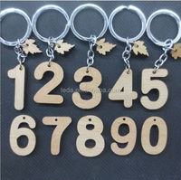 Custom wood key chain parts key ring car key chain