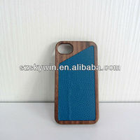 2013 new hot leather wood phone case for iphone