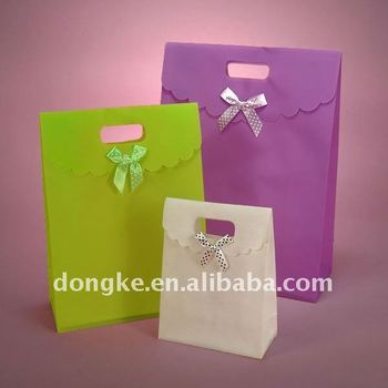 PP Colorful promotional gift bag,Cosmetic Bag With Butterfly Tie
