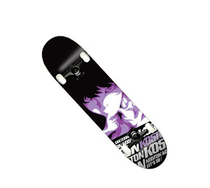 "Pro quality canada maple skateboard complete, 7.5"" completed skateboard with customized printing available"