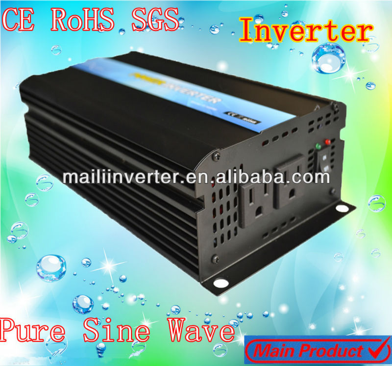 600W Pure Sine Wave Power Inverter for solar panel new technology dc 12 v to ac 220v,CE&RoHS Approved