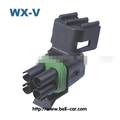 4 hole cylindrical used in car lights wire harness connector tyco pa66 connector wire and cable DJ3041Y-2.5-21