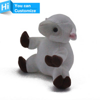 cusromized color and size plush toys sheep, promotional plush toys sheep