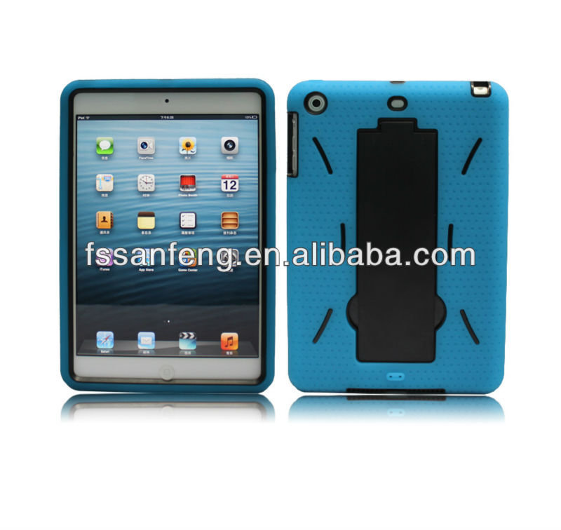 Wholesale Durable Double Layer Heavy Duty Stand Cases Covers For iPad mini