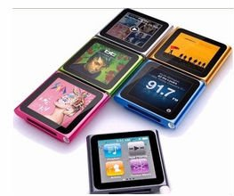6th Gen Quality clip touch screen mp4 player with TF card slot