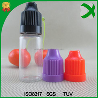 10ml pet plastic e-liquid bottle with e cigarette display rack