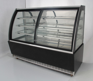 High speed cooling pastry showcae chiller glass cake display cabinet