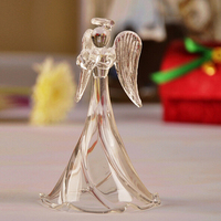 cheap price lovely glass crystal angel figurine