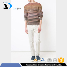 Daijun oem 2016 new design fashion men pullover long sleeve llama used wool sweaters