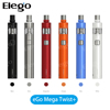 Black, Silver, Burgundy, Orange, Blue, White Joyetech ego mega twist+ 2300mah ego Twist+ battery with CUBIS Pro Atomizer