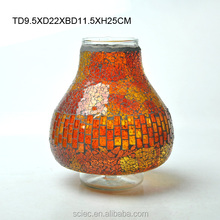 Exotic style mosaic colorful glass vase for home decoration