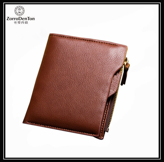 PU Leather Credit Card Photo Driver License Holder Bifold Men's Portable Travel Wallet With Money Clip Zip Coin Pocket