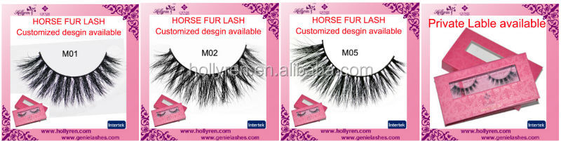 High Quality Luxury Top Rank Horse fur lashes