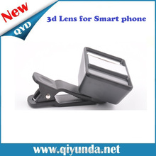 Portable 3D Mini lens for mobile phone, side by side format