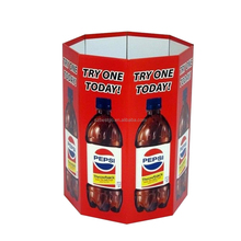 Promotional cardboard drink dump bins for retail