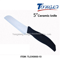 "5"" Chef Knife Ceramic Kitchen knife with Soft Black Handle TLCK5003-13"