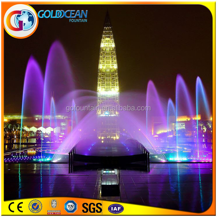 Ornamental LED Lighted Dancing Modern Fountains Outdoor