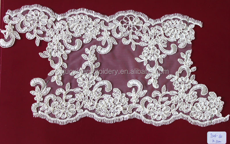 2014 hot selling wide lace trimming for wedding gown