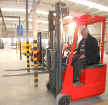 ride-on / factory outlet 3 wheel lifts electric fork lift for steel structure warehouse
