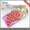 New Product Plastic Peacock Crystal bling diamonds case for iphone 4 4S 5 5S, phone case for Iphone 5S 9 Colors China supplier