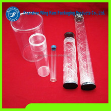 Clear plastic cylinder tube packaging container with lid and wholesale clear plastic tennis ball tubes
