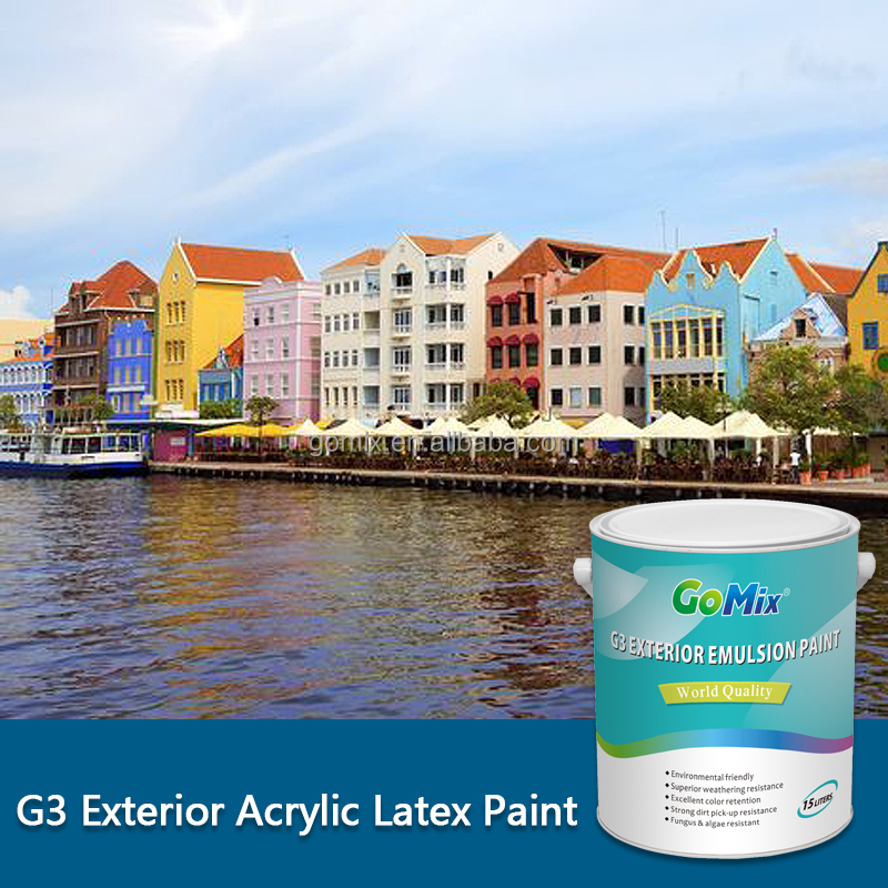 Non Blister Non Peeling G3 External Wall Paint