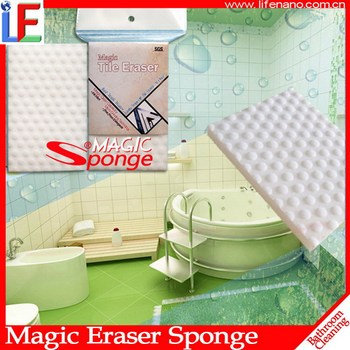 Magic Cleaning Sponge for Bathroom Wall Tile cleaning High quality melamine sponge manufacturer