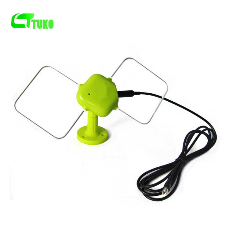 Factory supply 25db gain digital uhf hdtv Indoor/Outdoor DVB-T2 Digital TV antenna ATSC antenna