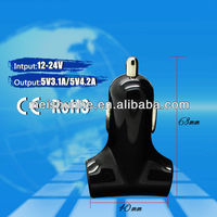 Shenzhen Manufacturer Dual USB Car Charger 5V 2A Charger for Sansung Galaxy CE RoHS