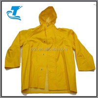 OEM design 100% waterproof raincoat adult pvc heavy duty rainwear