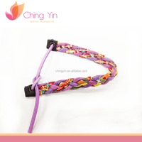 Trendy Fashion Baby Girls' Jewelry Multicolor Fabric Braided Elastic Bracelet