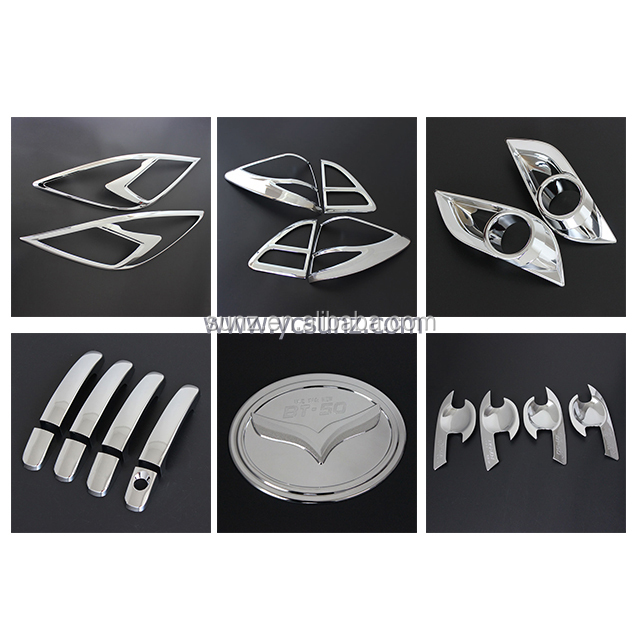 Mazda BT50 2012-2015 New ABS Chrome kits full set auto accessories