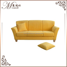 <strong>Modern</strong> Design Yellow Color Single Fabric Sofa With Pillow
