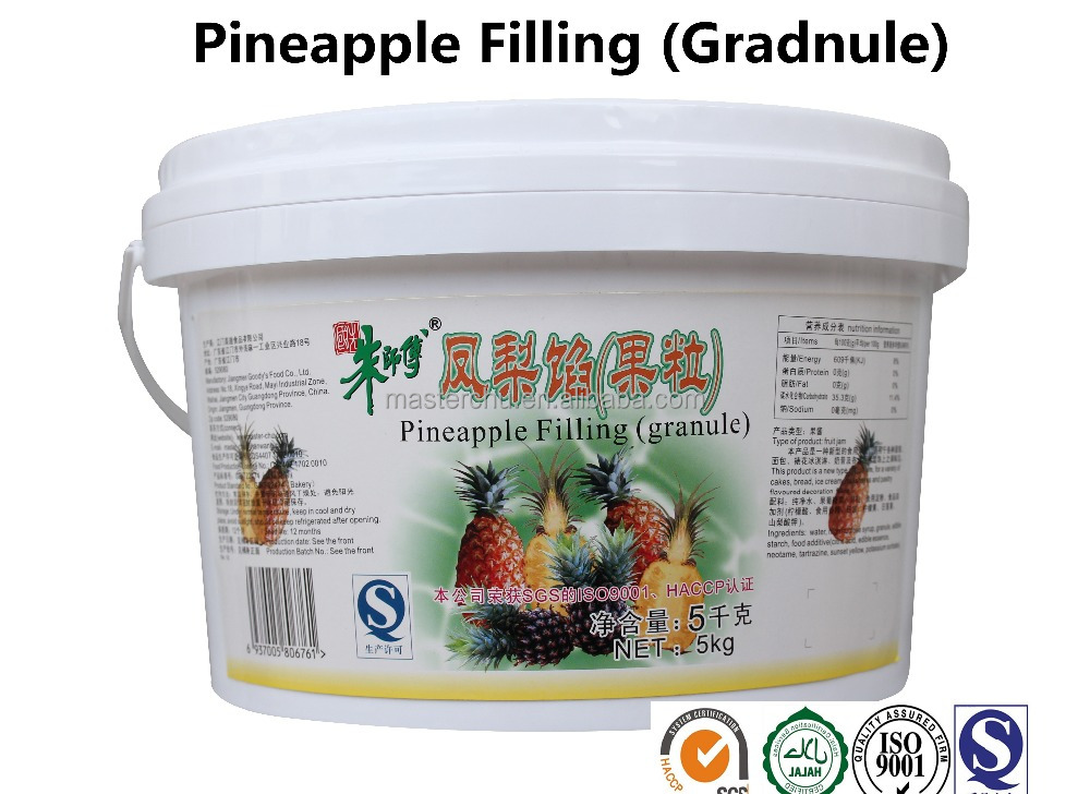 pineapple filling jam for baking products with HALAL 5kg