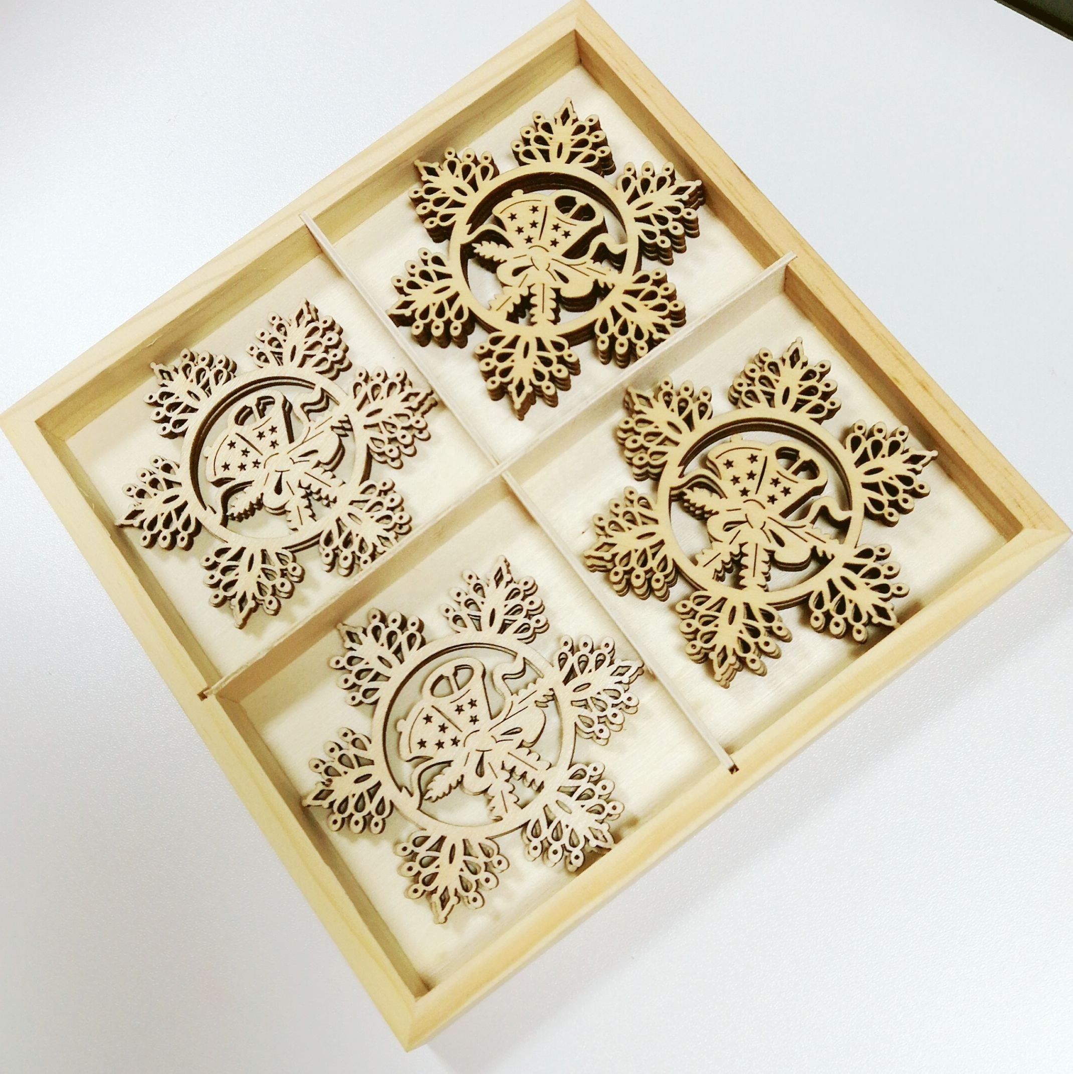 Sweets Wood boxes for christmas decorations
