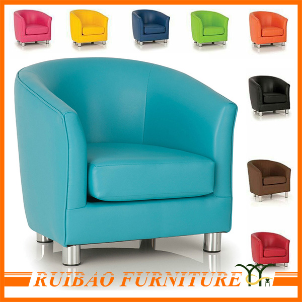 New Design Waiting Sofa Round Leather Cafe Sofa Chair Tub Chair