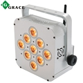 Rechargeable battery powered 12x9w rgb 3in1 led wireless uplights