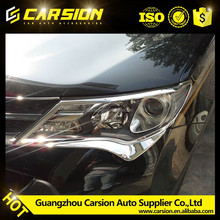 Decorative Auto body trim,headlamp cover, ABS CHROME headight cover for RAV4 2014 Toyota