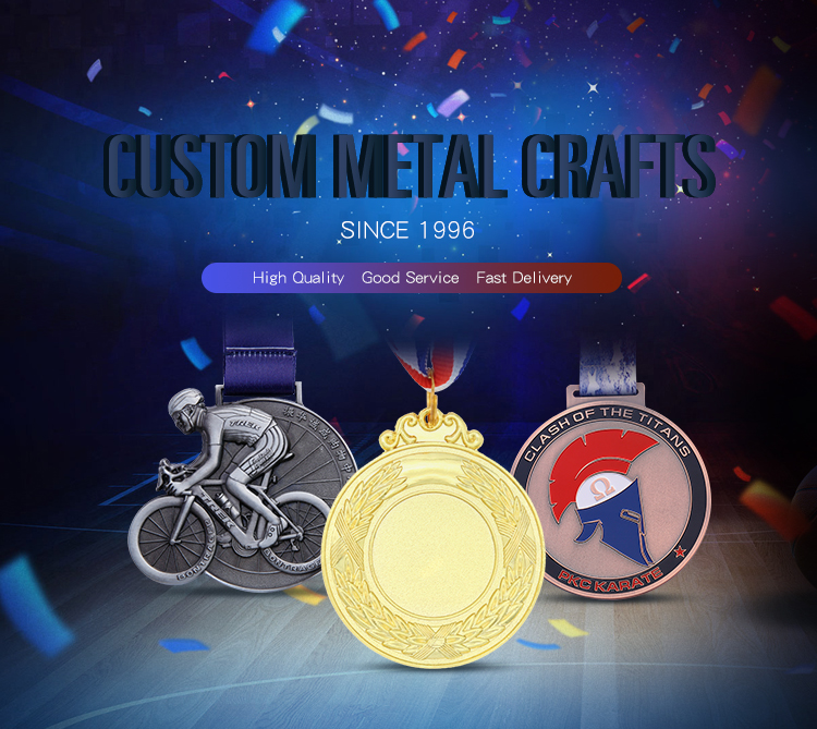 wholesale custom logo hot style sports gold custom cut out  fighting championship winner medals