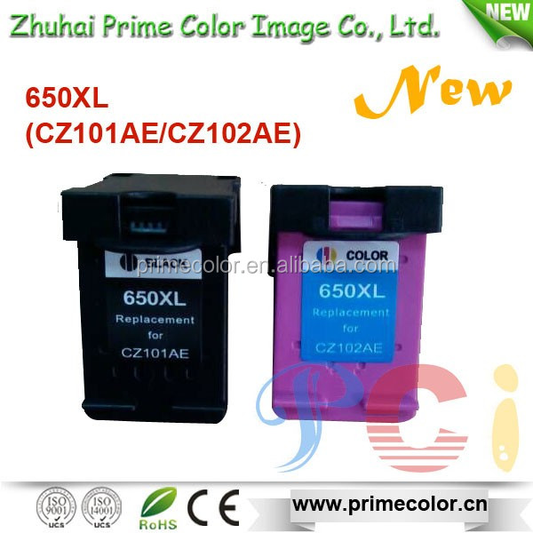 CZ101AE CZ102AE 650XL Recycle inkjet cartridge