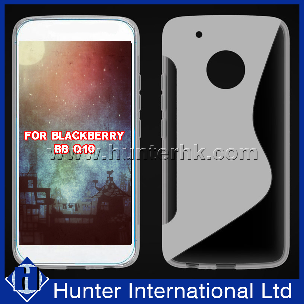 Factory Price S-line Jelly TPU Case For Blackberry Q10