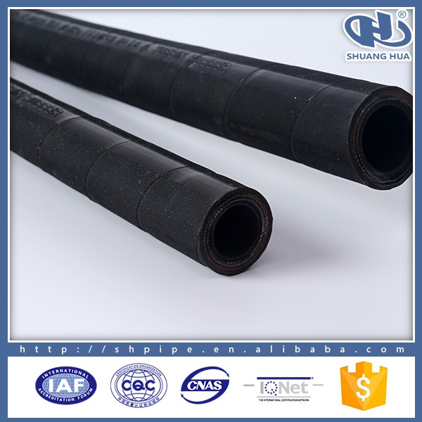 SAE 100R2AT/2SN Wire Braid Reinforcement G4SP high pressure press hydraulic rubber hose pipe prices