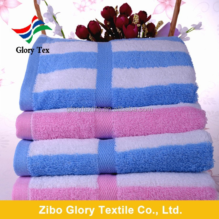china wholesale yarn dyed and striped cotton face wash towels