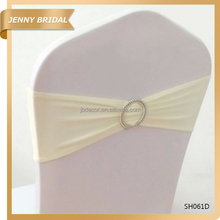 SH061 Wedding single layer elastic spandex chair sash with buckle