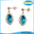 Olivia Korean Jewelry Blue Zircon Earrings Fashion Women Cheap Fake Diamond Stud Earrings