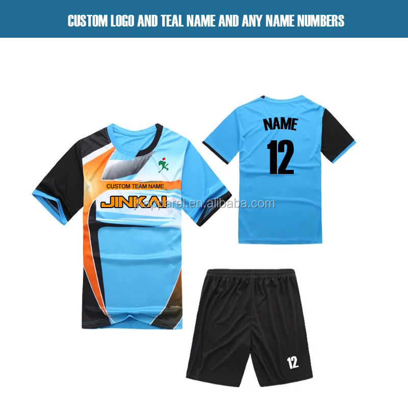 custom sublimation short sleeve soccer jersey football 2017