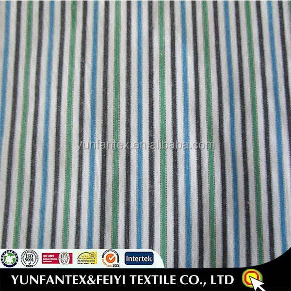 2016 colorful stripes with black/white/blue/green fabric 100 cotton material for garment use