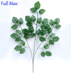 Decorative Foliage H70cm Artificial Green Rose Leaves